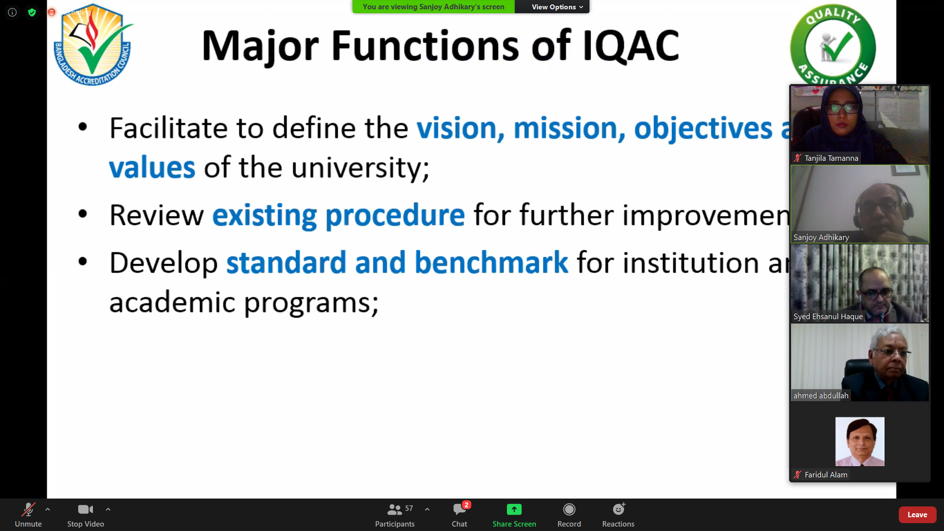 IQAC-Its Significance for QA and Accreditation in HEI
